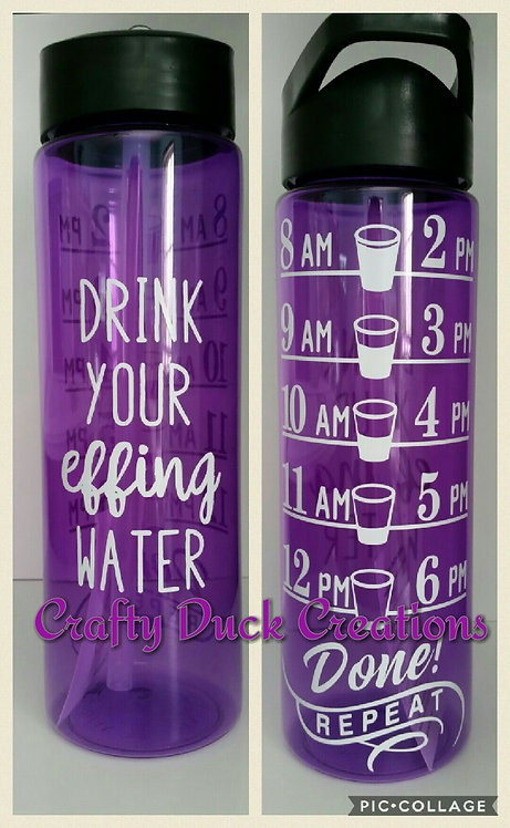 24 oz. Motivational Water Bottle