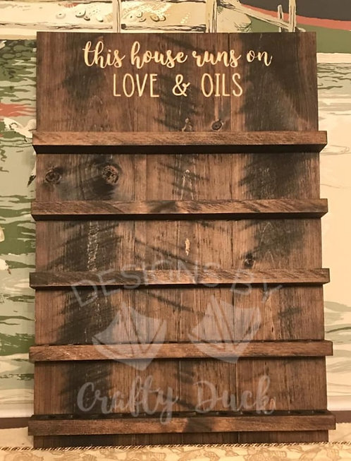 Engraved Essential Oil Shelf