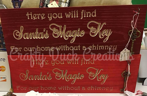 Santa's Magic Key Sign