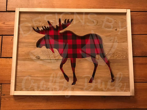 Framed Moose Wall Art