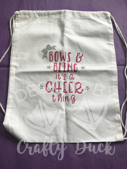 Bows & Bling It's a Cheer Thing Cinch Bag