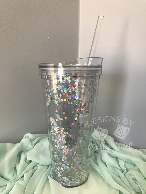 Personalized 22 oz. Glitter Tumbler