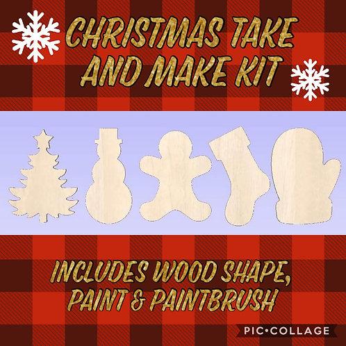 Christmas Mini Wood Cut Out Kit