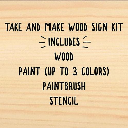 CHRISTMAS Take and Make Wood Sign Kit Designs