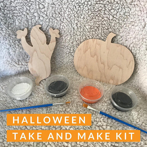 Halloween Mini Wood Cut Out Kit
