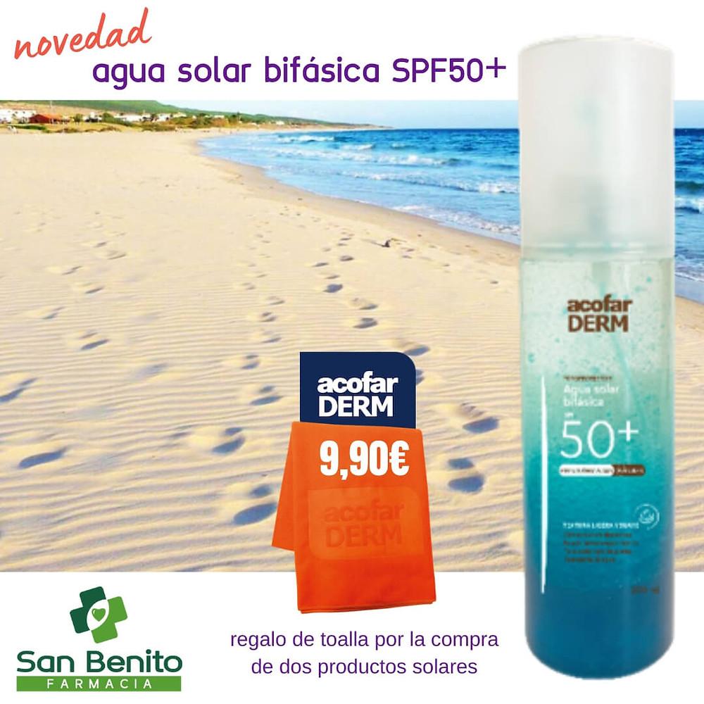 agua solar bifásica SPF50+ jerez de la frontera