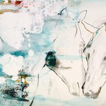 Horse Love abstract painting by Belinda Baynes