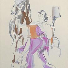 'Amber' custom equestrian illustration