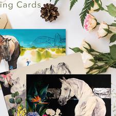 Horse Lover Art Greeting Cards by Belinda Baynes