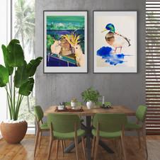 'Ducky' & 'Morning Cockies' by Sydney artist and designer, Belinda Baynes
