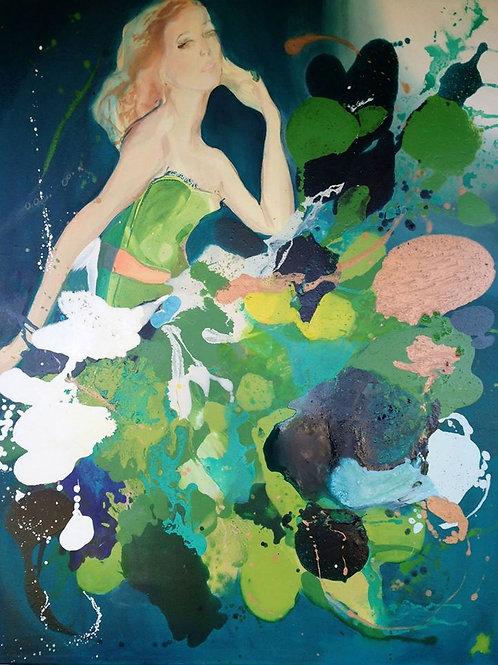'Mad Men Green'A3 Print