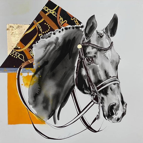 Cheval de Dressage by Belinda Baynes