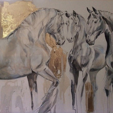 Baroque Herd Horse painting by Belinda Baynes