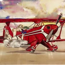 """My Pitts Special"" aerobatic plane art by Belinda Baynes"