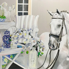 'Hamptons Horse' large equestrian painting by Belinda Baynes