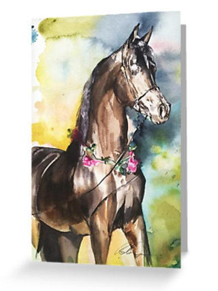 'Arabian Stallion' Greeting Card Pack of 6