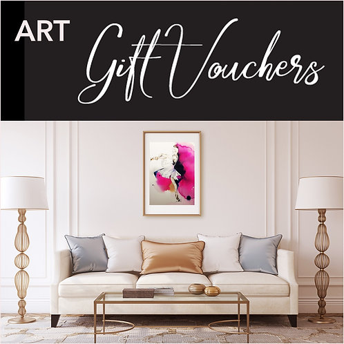 Custom art gift voucher at Pony and Belle Sydney by designer & artist, Belinda Baynes. Ballerina  art print
