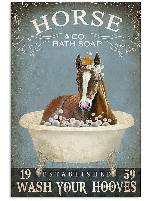 A3 Vintage Horse Poster