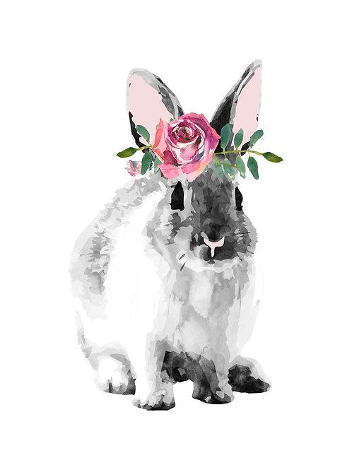 A3 Watercolour rabbit print