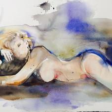 Nude watercolour by Belinda Baynes