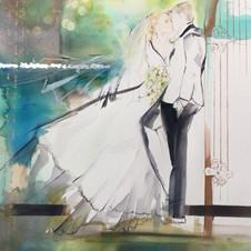 Custom Wedding illustration by Belinda Baynes