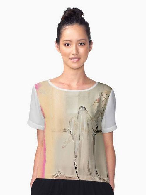 Wedding Bridal fashion illustration print of shirt. Fashionble bridal womens shirt
