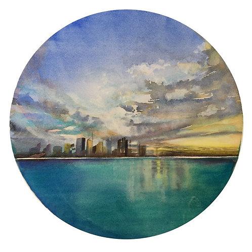 City landscape watercolour art by Belinda Baynes. Sydney city art. Perth city art. Brisbane city art. New York city art