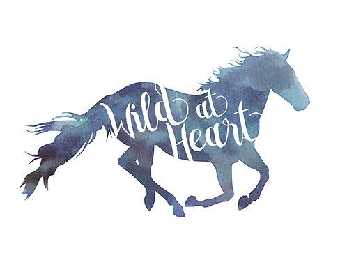 Watercolour A3 horse print