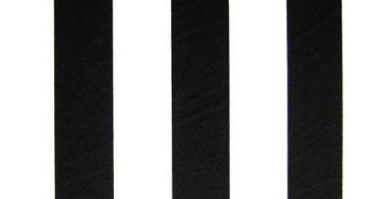 """2"""" Black/White Stripe Midcut"""