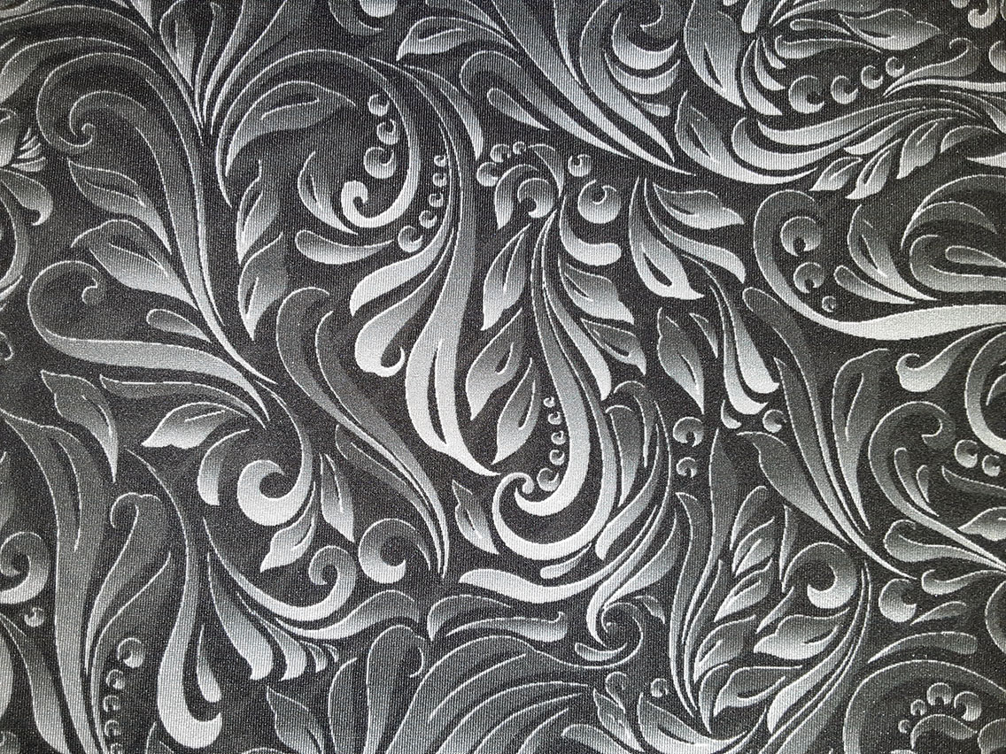 Black and Grey Paisley