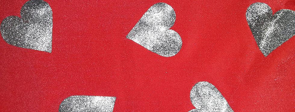 Red/Silver Heart Jock Strap