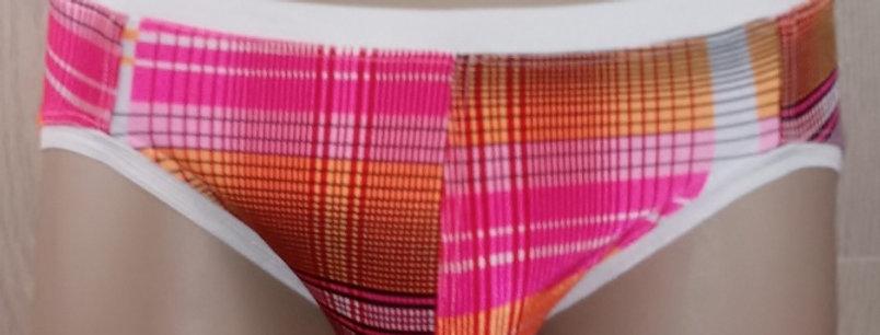 Orange Plaid Backless Jokini