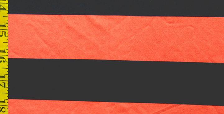 "2"" Navy/Coral Stripe Pocket Paneled Trunk"