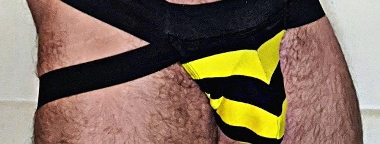 Horizontal Stripe Lifter Jock Strap