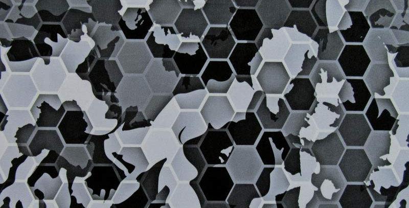 Grey Honeycomb Camo Jock Strap