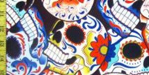 Festive Skulls - Deep Neck Singlet