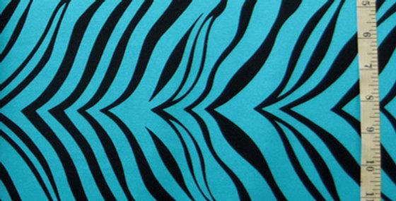 Tropical Turq Zebra Jock Strap