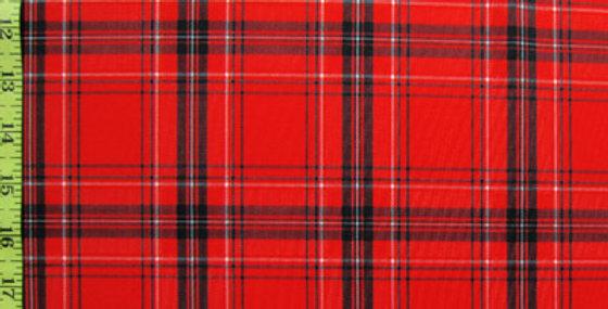 Red Plaid Basic Jokini