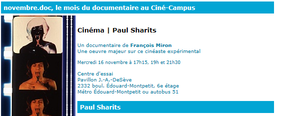 Screening at Cine Campus UDM Montréal