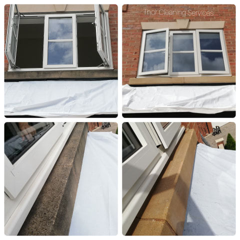 stone sill softwash before and after