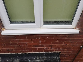 clean sill after rust stain