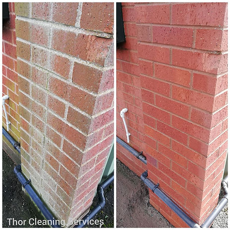 Wall stain clean before and after commercial