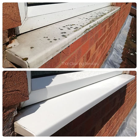 window frame deep clean plastic before and after