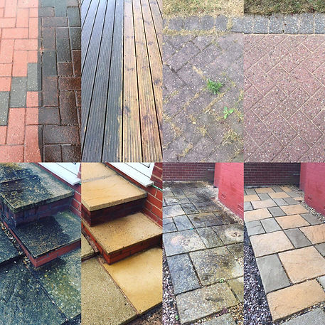 before and after pressure washing cleaning thor cleaning services jet washing