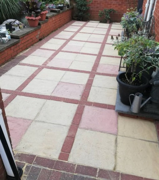 clean patio after picture