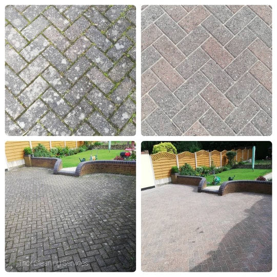 patio clean before and after