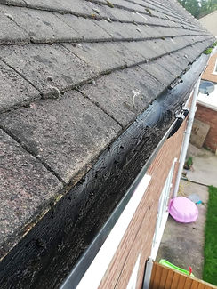gutter clear after