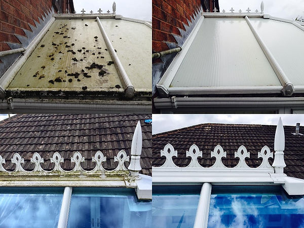 Conservatory roof before & after