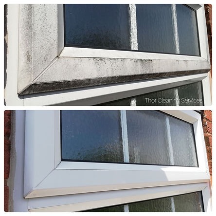 upvc plastic frame deep clean before and after Cannock
