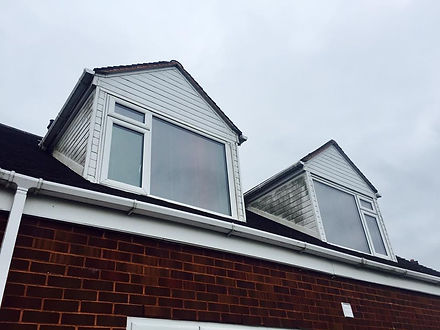 Dirty upvc cladding guttering gutters, before image picture Thor Cleaning Services